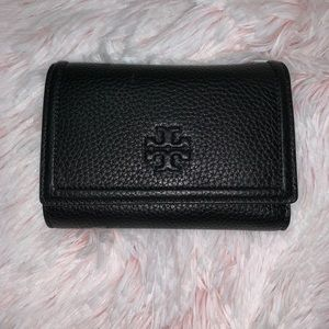 Tory Burch Thea Medium Flap Wallet Black NWT
